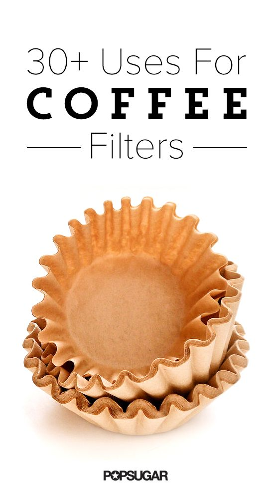 Coffee filters are for making coffee, but a stack has other clever uses that might surprise you. Made from small particles of superabsorbent disposable paper, the filters are great to have on hand for so many reasons.