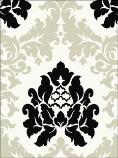 Haven Damask Black And Silver Wallpaper  Brand:Chesapeake  Book:Haven  Item #:WTG-079146  OS0VZ8XT (Previous Item No.) $29.99 roll