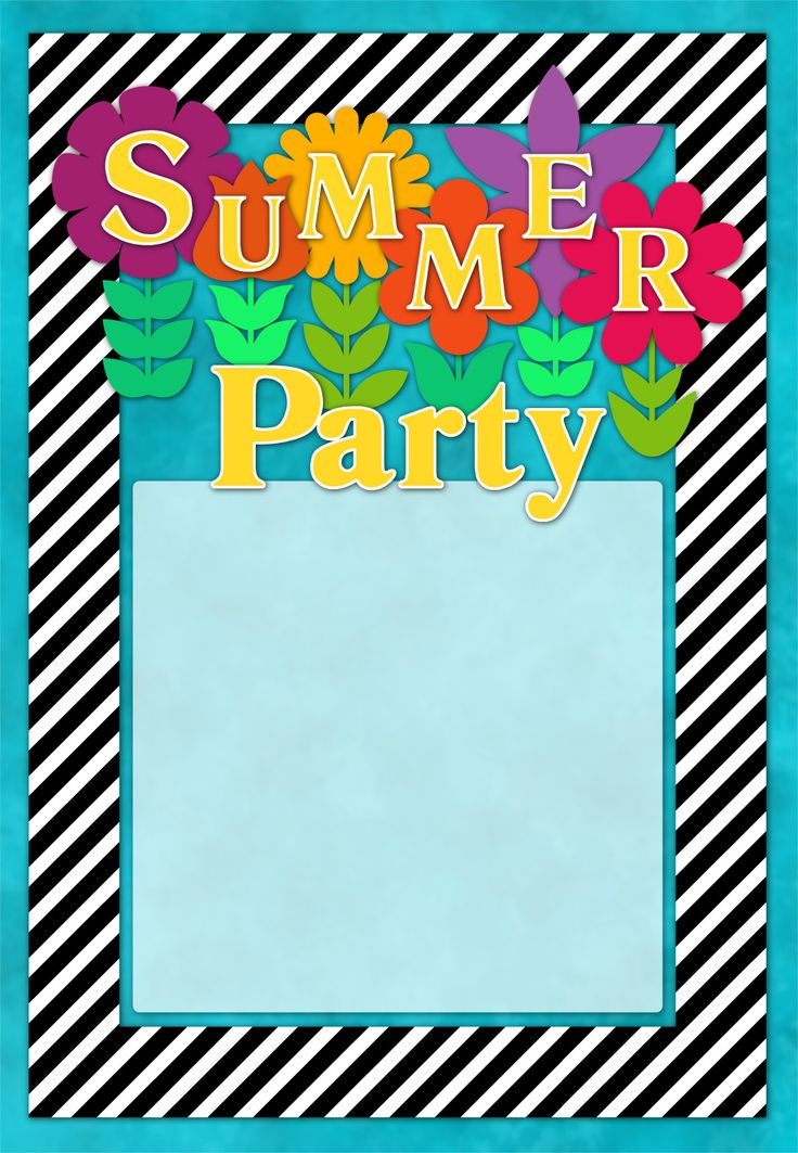 Summer Party Invites Gallery - invitation templates free download