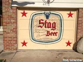St. Louis, MO - Stag Beer Garage Door