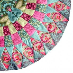 Flutterby fabrics by Tula Pink. great job cutting and piecing!