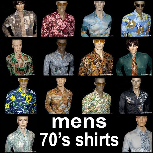 Mens Disco Shirts From The Actual 70s Vintage 1970s Fashion