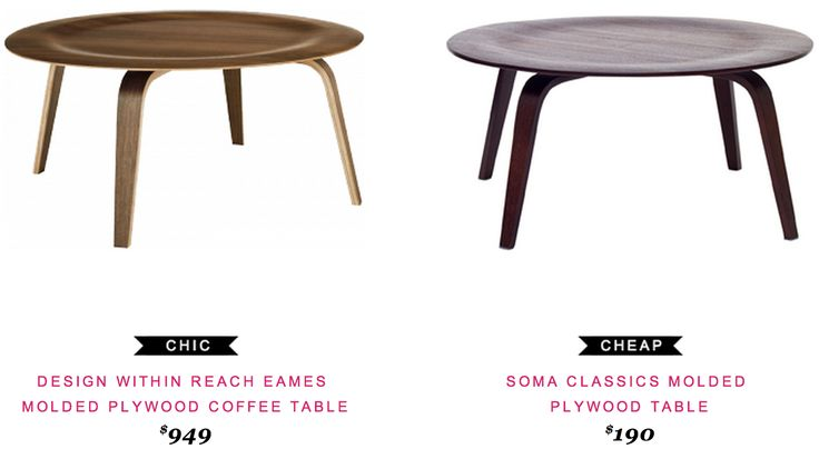 Design Within Reach Eames Molded Plywood Coffee Table $949 vs Soma ...