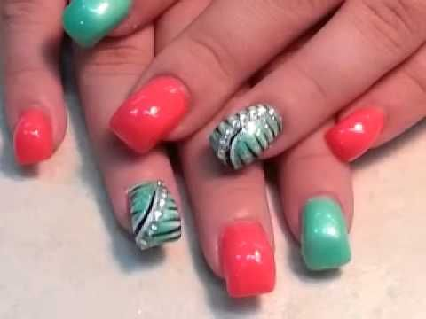 Beautiful Hump nail with lovely Design - YouTube