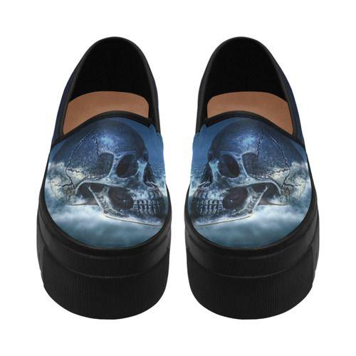 Skull and Moon Selene Deep Mouth Women Shoes (Model 311)