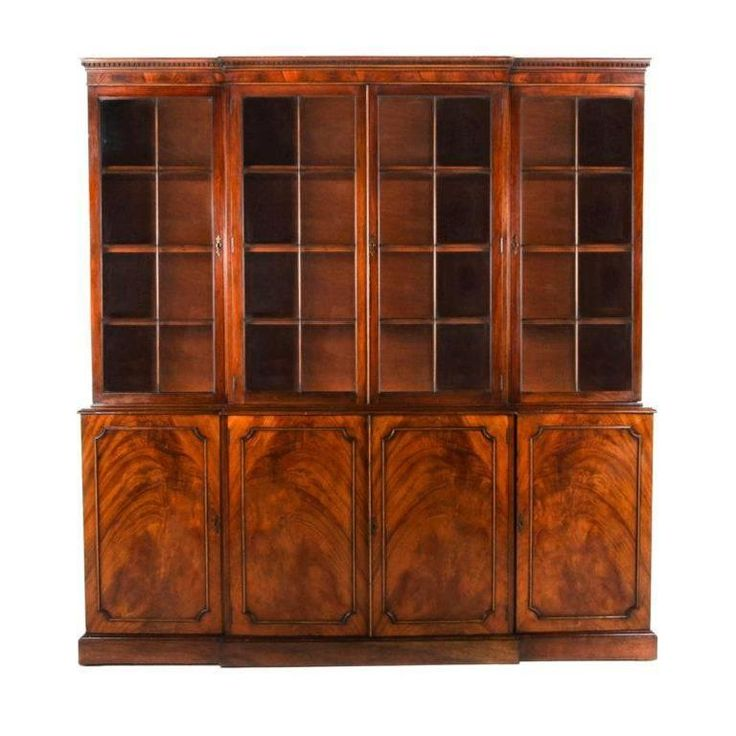 French Antique Walnut Bookcase | From a unique collection of antique and modern bookcases at https://www.1stdibs.com/furniture/storage-case-pieces/bookcases/