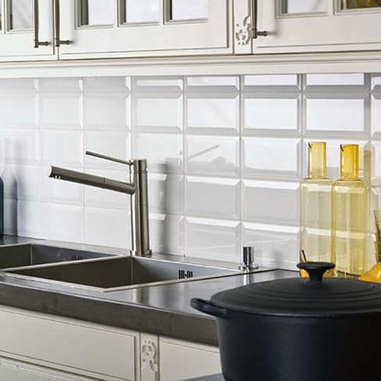 glass wall tiles for kitchens bevel brick white is a white gloss bevel edge wall tile by 6866