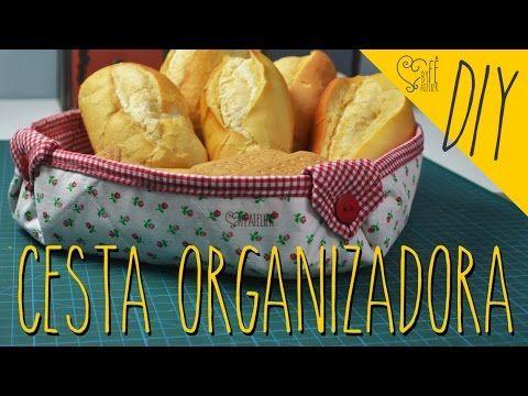 DIY ::: Cesta Organizadora Versátil - By Fê Atelier - YouTube