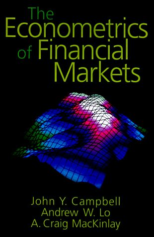 Bestseller Books Online The Econometrics of Financial Markets John Y. Campbell, Andrew W. Lo, A. Craig MacKinlay, Andrew Y. Lo $70.47  - http://www.ebooknetworking.net/books_detail-0691043019.html