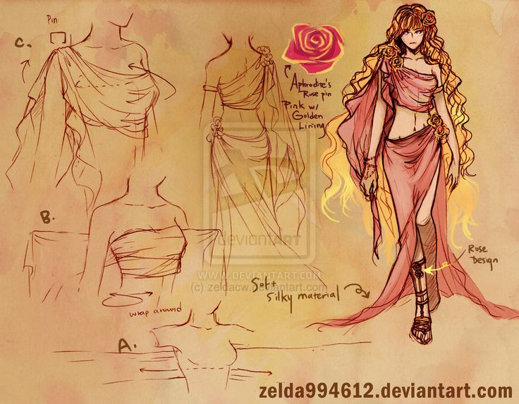 athena and aphrodite | Athena And Aphrodite Drawing Outfit sketch- aphrodite by