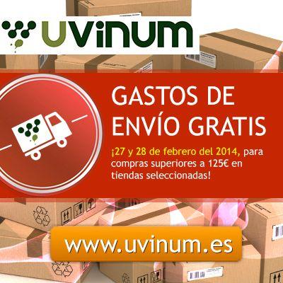 Accede a la promoción de GASTOS DE ENVÍO GRATIS desde aquí:  http://www.uvinum.es/productos:o:ventas:s:degustam,vinarium,ecomprarvinocom,tomevinos,wine-palace,delicat,vilaviniteca,idyllica,cervezus,grauonline,devidavinocom,cutanda-vinos-y-licores,matarromera,fragola,vinoolecom,estuches-divino,gourmetiumcom,santa-cecilia,gourmet-oliva,spiritscorner