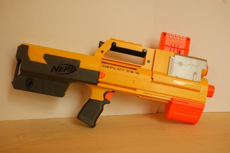 Nerf N Strike Deply C5 6 Rifle Yellow With Clip The Guns