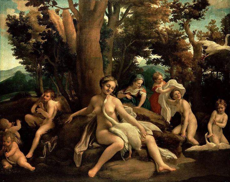 CORREGGIO- Leda, serie degli amori di Giove (1530-31) Olio su tela @Gemäldegalerie, Berlino