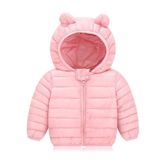 Winter Newborn Baby Girl Boy Cotton Hooded Coat Jacket Warm Zipper Outwear Cloth