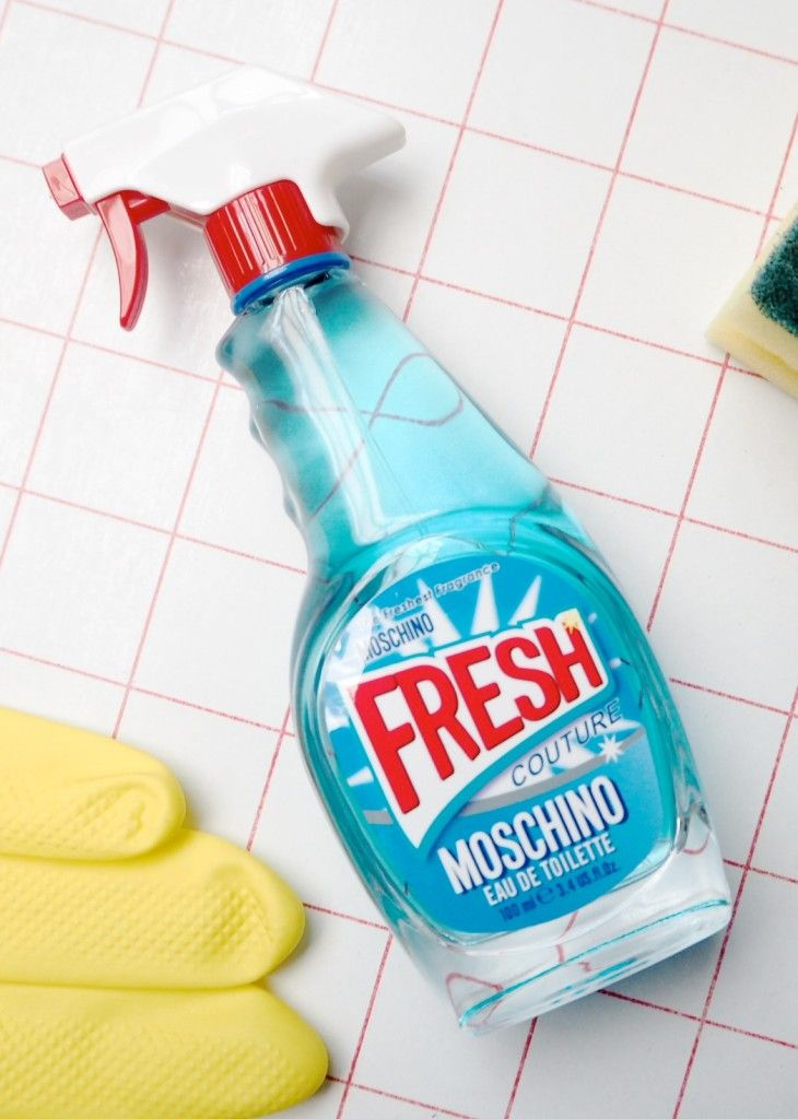 read all about the newFragrance by moschino: Moschino 'Fresh', it comes in a kitchen cleaner style bottle!