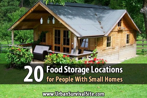 There's one bad thing about stockpiling food: It takes up a lot of space. Fortunately, you probably have more space for your food storage than you think.