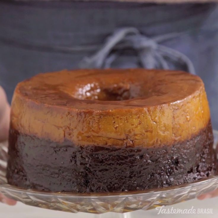 "This baked dessert is half cake, half ""pudim"" and completely delicious."