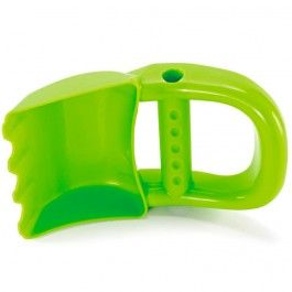 Hand Digger Green Sand Toy - Educational Toys Planet. Great gift for 18 months old child. Get a sand shovel and a scoop in one cool toy - bright and easy-to-grip hand sand digger! Develops Skills - outdoor play, manipulative skills, pretend play, imagination. #toys #learning #educational #gifts #child https://www.educationaltoysplanet.com/hand-digger-green-sand-toy.html