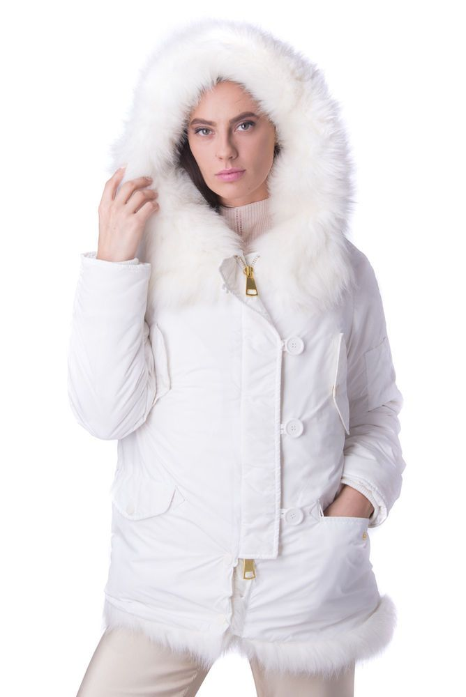 714bfeee7be3c8 KENGSTAR Jacket Size S Padded Faux Fur Details Double Cuffs Hooded RRP 340   fashion  clothing  shoes  accessories  womensclot…