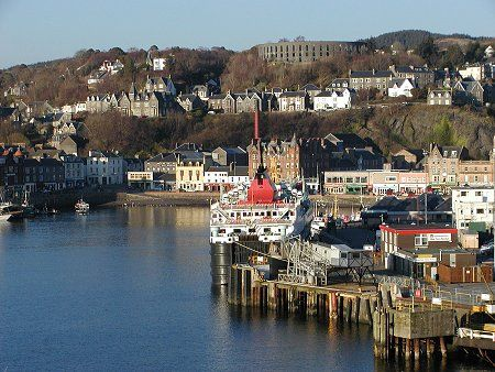 we arrived at Oban after a great ferry journey from Barra