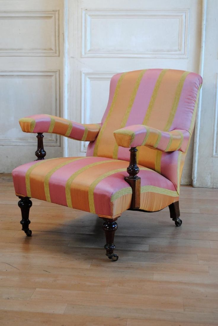 English Antique Victorian Library Chair Hollywood Regency Chic Designers Guild in VIC | eBay