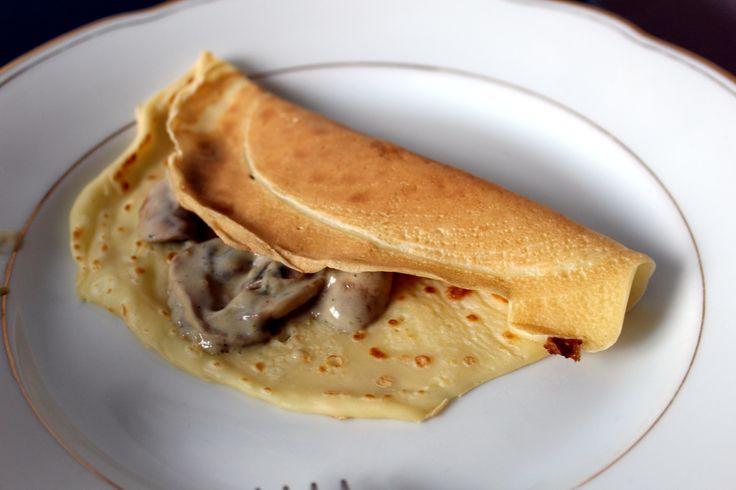 Omeletten und PIlzsoße