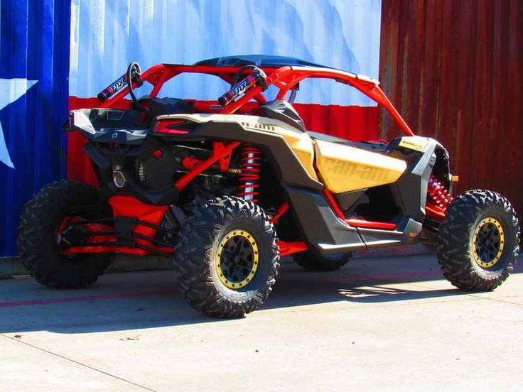 New 2017 Can-Am Maverick X3 X RS Turbo R Gold & Can-Am R ATVs For Sale in Texas. 2017 Can-Am Maverick X3 X RS Turbo R Gold & Can-Am Red, 2017 Can-Am® Maverick X3 X RS Turbo R Gold & Can-Am Red BORN LEADER This is the world's first factory 72-in wide side-by-side vehicle. With 24-in of suspension travel and advanced FOX Racing components, it stretches the X3 X rs abilities far beyond expectations for staggering performance anywhere. Features may include: 72-in width for ultimate performance…