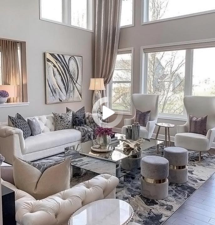 Redirecting In 2021 Elegant Living Room Decor Glamour Living Room White Living Room Decor