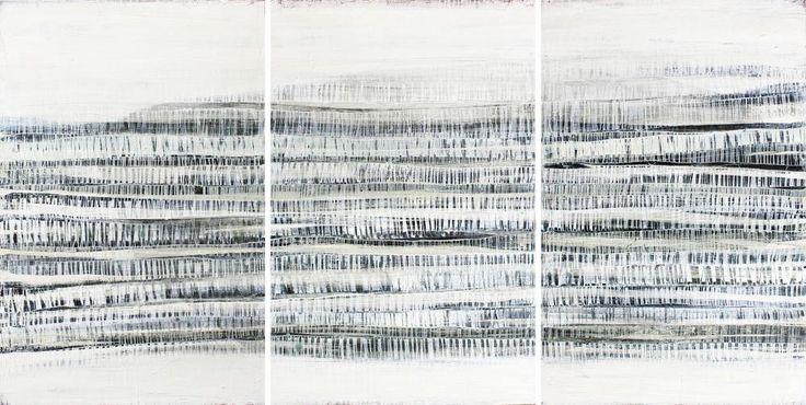 Karine Léger Trajectoire acrylique sur bois 72 x 36