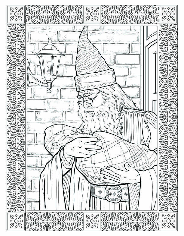 heres a look inside the harry potter coloring book