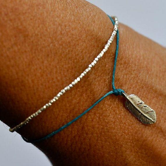 Bracelet de perles en argent. Délicat - argent pur