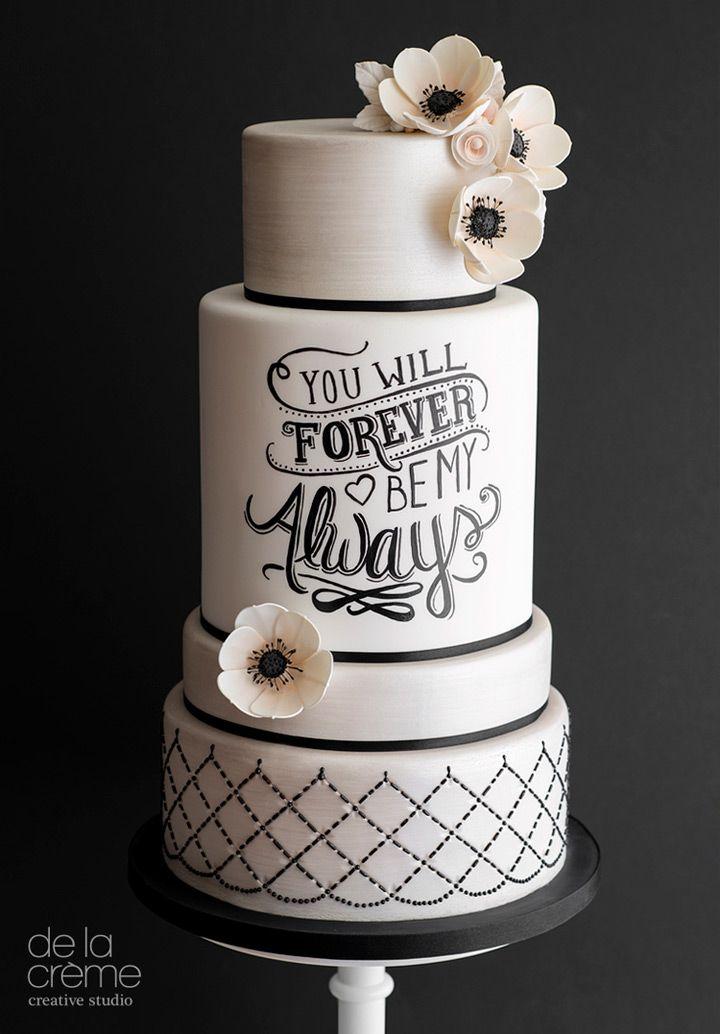 Love this reverse chalkboard cake! ~ we ❤ this! moncheribridals.com