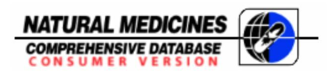 Natural Medicines Comprehensive Database Consumer Version - Easy-to-understand information on natural products. Not the most appealing website but has great information. http://naturaldatabaseconsumer.therapeuticresearch.com/home.aspx?cs=OSU&s=NDC