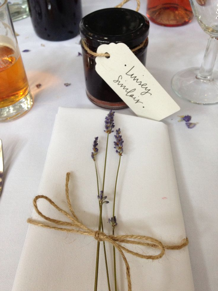 Wedding favours / name tags ~ linseymouse