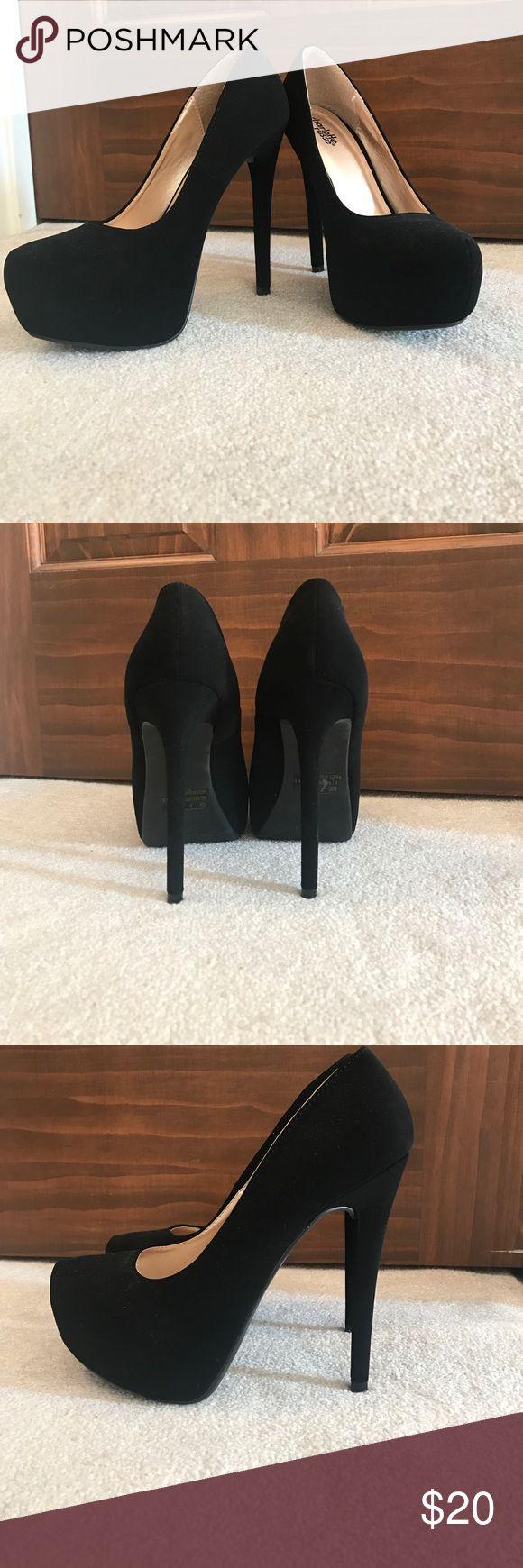 Black high heels Black high heels. NEVER BEEN WORN Charlotte Russe Shoes Heels