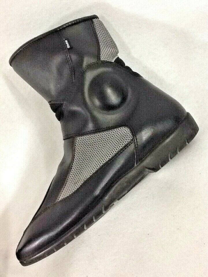 8d4225aadd2bc BMW Motorcycle Boots Leather Air Flow Mesh Vintage Black Size EUR 44 ...