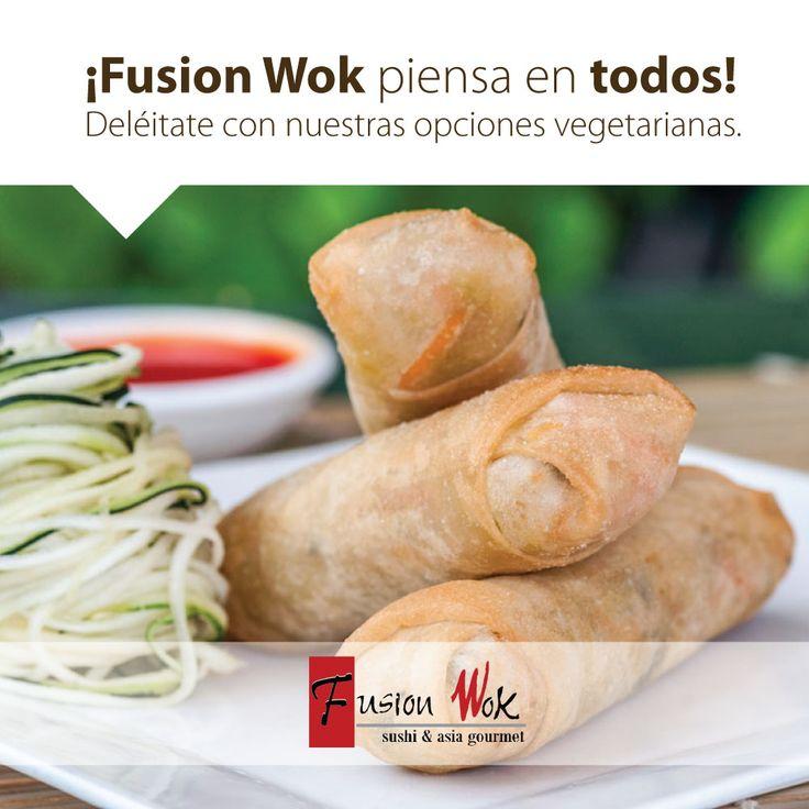 Ven y disfruta en las tardes Fusion Wok nuestras espectaculares entradas en opción vegetariana. ¡Exquisitas y súper saludables! ¡Los esperamos!