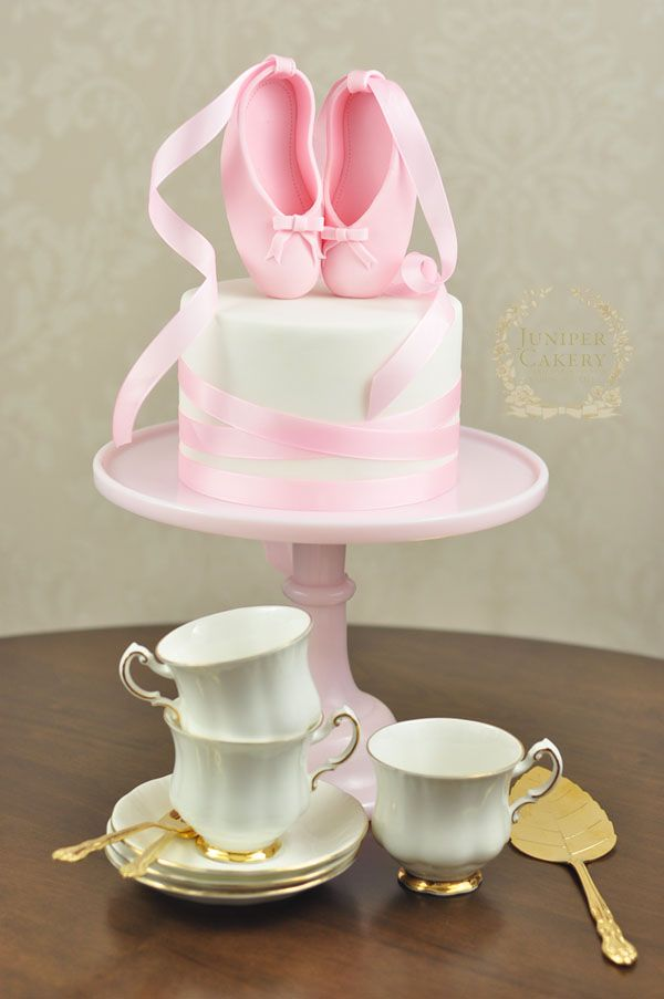 Pretty ballet cake how-to by Juniper Cakery
