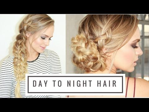 Day to Night Braided Hairstyle! - YouTube- wedding hair
