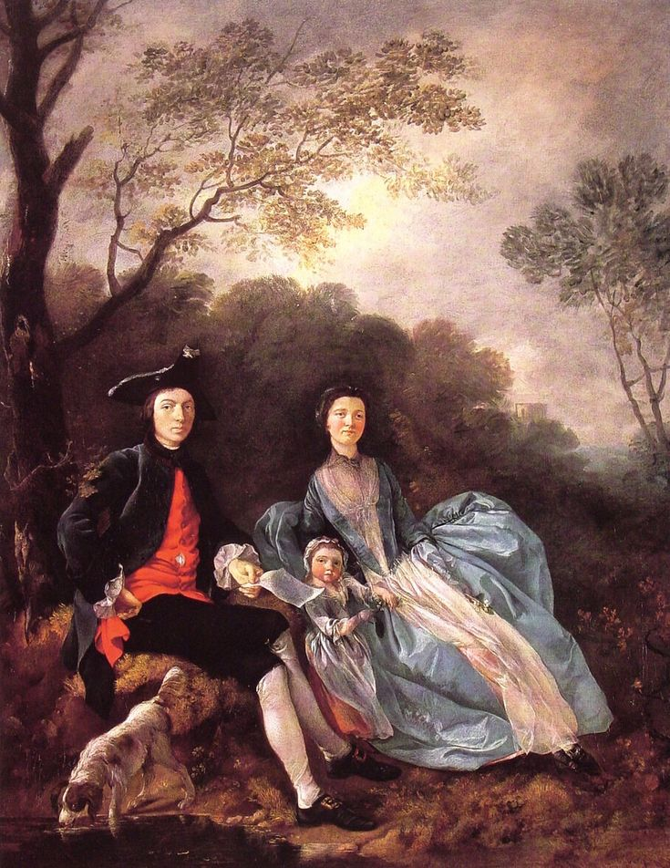 Portrait of the Artist with his Wife and Daughter - Thomas Gainsborough