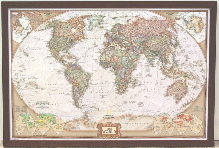 14 best framed maps images on pinterest framed maps map frame and executive world map with mahogany frame gumiabroncs Choice Image