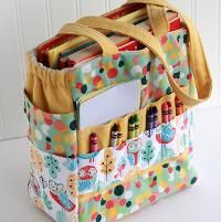 You have to see Crayon Art Folio and Mini crayon holder by Gingercake!