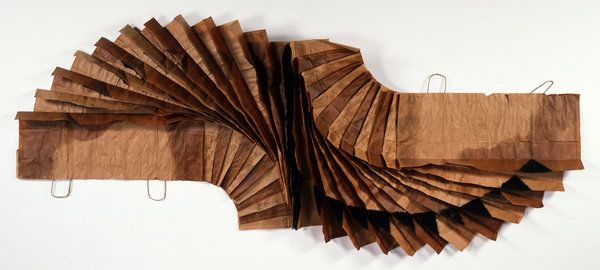 "David Hammons ""Bag Lady in Flight""   'Now Dig This! Art & Black Los Angeles,' at MoMA PS1 - NYTimes.com"