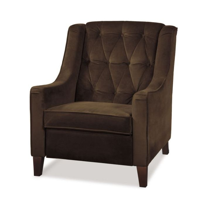 Curves Tufted Chair in Chocolate Brown