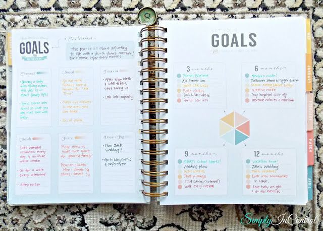 Inkwell Press Planner Review! Goals  http://simply-in-control.blogspot.com