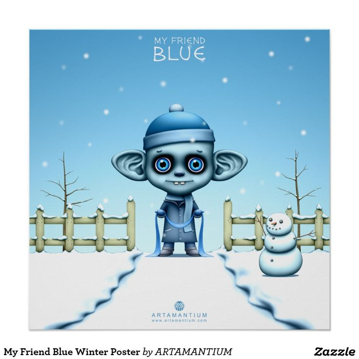 My Friend Blue Winter Poster