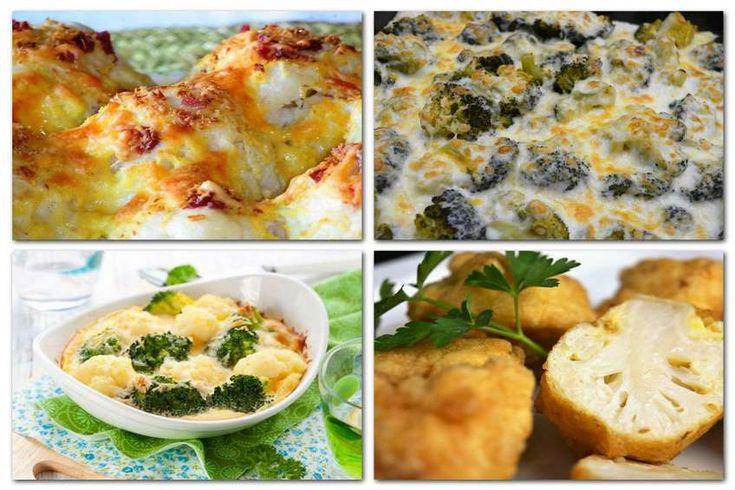 recetas con coliflor y brocoli