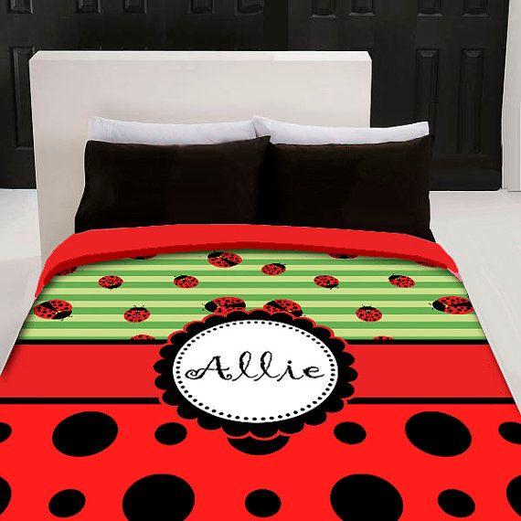 ladybug custom bedding set by on etsy
