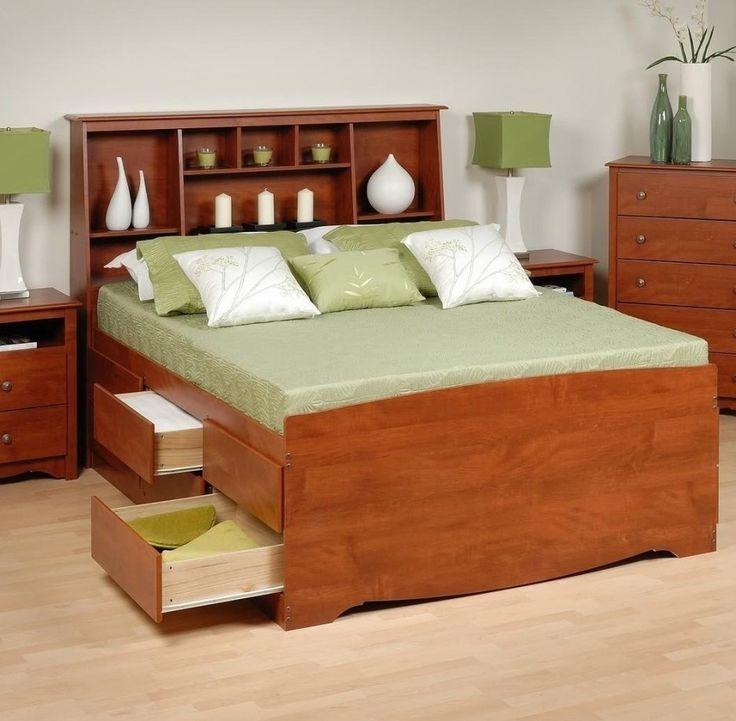 Light Oak Queen Bed Frame Wheels