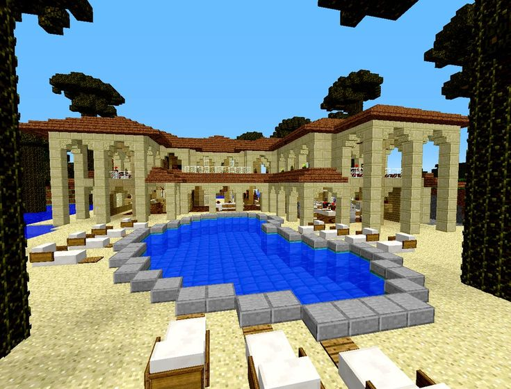 Minecraft Beach House Nice Houses And Pools
